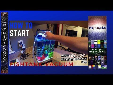 How To Start Aquarium Vacuum Siphon Tube Clean Vacuuming Fish Tank Water Cleaning Easy Start