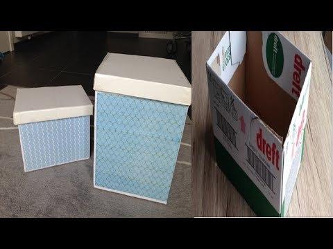 Diy cardboard storage boxes | Best out of waste | Cardboard crafts | Diy Organizers