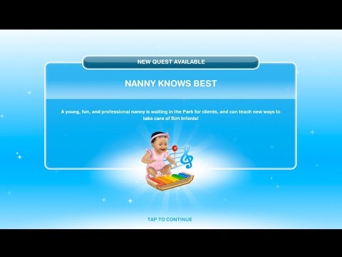 Sims Freeplay | Nanny Knows Best Quest | Baby Steps Update #1