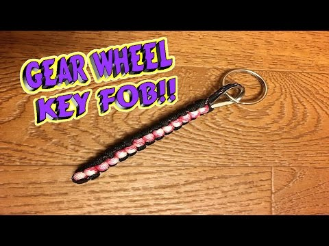 Paracord How To Make A GearWheel Key Fob With A JIG
