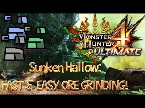 MH4U Mining Guide - Sunken Hollow: FAST & EASY ORE GRINDING!