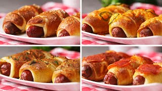 Pretzel Dogs Four Ways