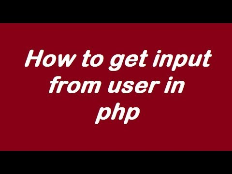 How to get input from user in PHP ( addition of two number given by user and printing the sum)