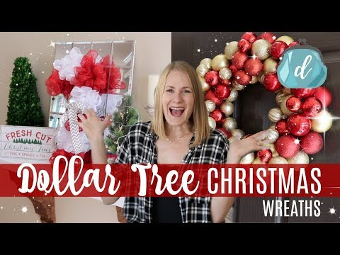 DOLLAR TREE CHRISTMAS DIYS 🎄 Classy & Easy Wreaths 2017!