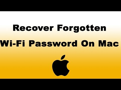 How to Recover a Forgotten Wi-Fi Password on Mac