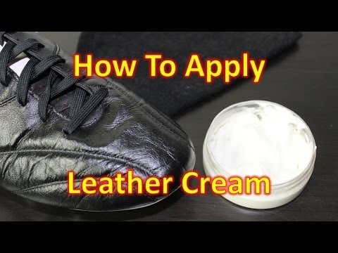 How to Apply Leather Cream - Caring for your Soccer Cleats/Football Boots