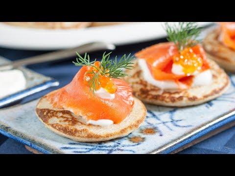 Best Buckwheat Blinis Recipe with Smoked Salmon