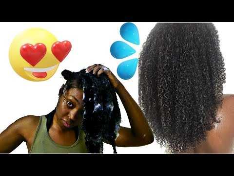 Wash Day Waist Length Natural Hair | Relaxing Water Sounds 💦
