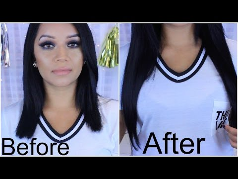 How I clip in my Irresistible Me extensions |  Short Blunt Hair