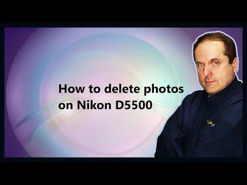 How to delete photos on Nikon D5500