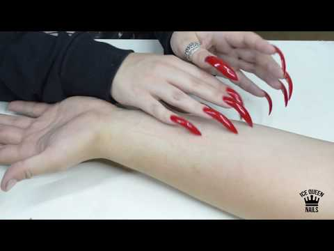 NEW AGGRESSIVE ASMR VIDEO! REALLY SHARPENED NAILS SCRATCHING HARD POOR SKIN! FANTASTIC Effects!