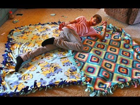 How to Make a Fleece Tie Blanket!