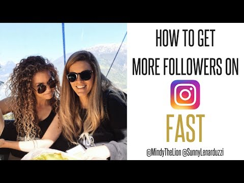 How to Get More Followers on Instagram FAST! ft. @mindythelion @sunnylenarduzzi