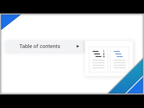 Google Docs - Create a Table of Contents with Page Numbers or Links
