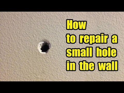How to repair a small hole in the wall