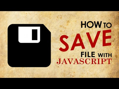 Generate and Save As Text File with Javascript