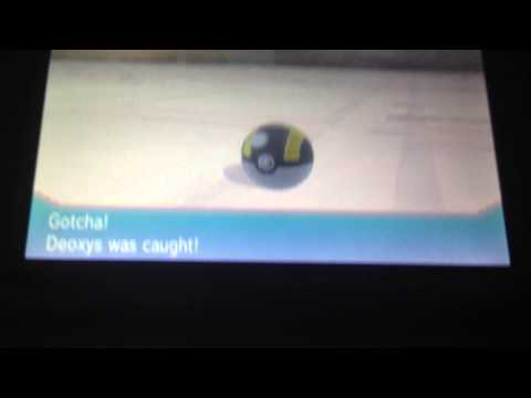Pokemon Alpha Sapphire how to rematch deoxys/ change forms plus Galladite