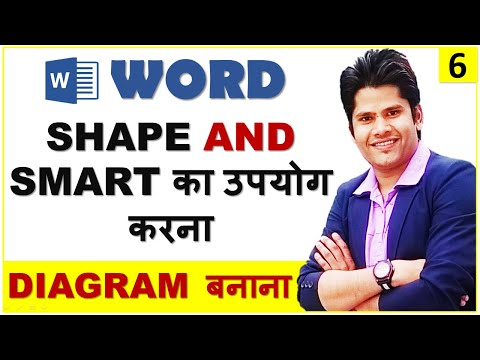 MS Word 2010 - Insert Shapes & Smart Art in Hindi || Learn How To Make Diagrams in Word