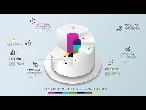 Business Infographics Circle Graph Vector illustration - illustrator tutorial