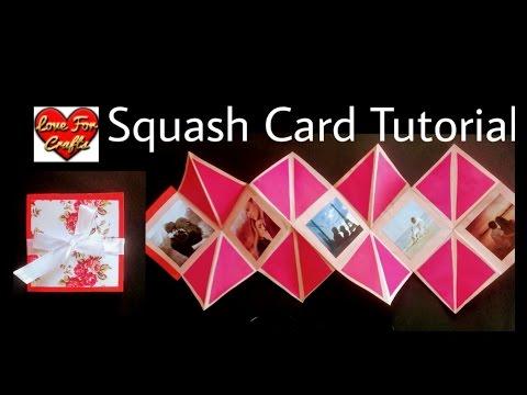 Squash Card Tutorial | How to Make Squash Card for Scrapbook