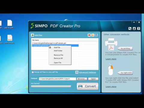 How to Combine PowerPoint - Merge Multiple PPT/PPTX to one PDF