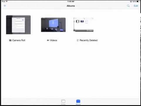 iPad - Recently Deleted Album (iOS 8)