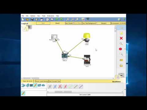 IoT in Packet Tracer 7 - Use Blockly to program IoT devices Part 1