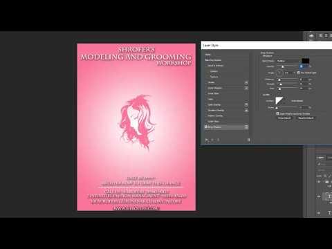 Fashion flyer Photoshop cc tutorial
