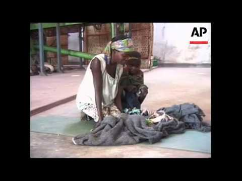 Malnourished refugees struggling to cope in war-ravaged country