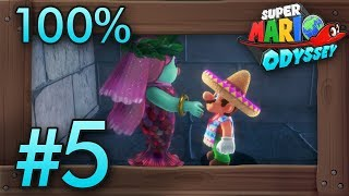 Super Mario Odyssey 100% Walkthrough Part 5 | Lake Kingdom (all Moons & Coins) Switch Gameplay