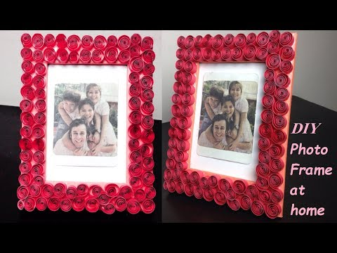 How to Make Photo Frame at home | Cardboard Photo Frame Idea |