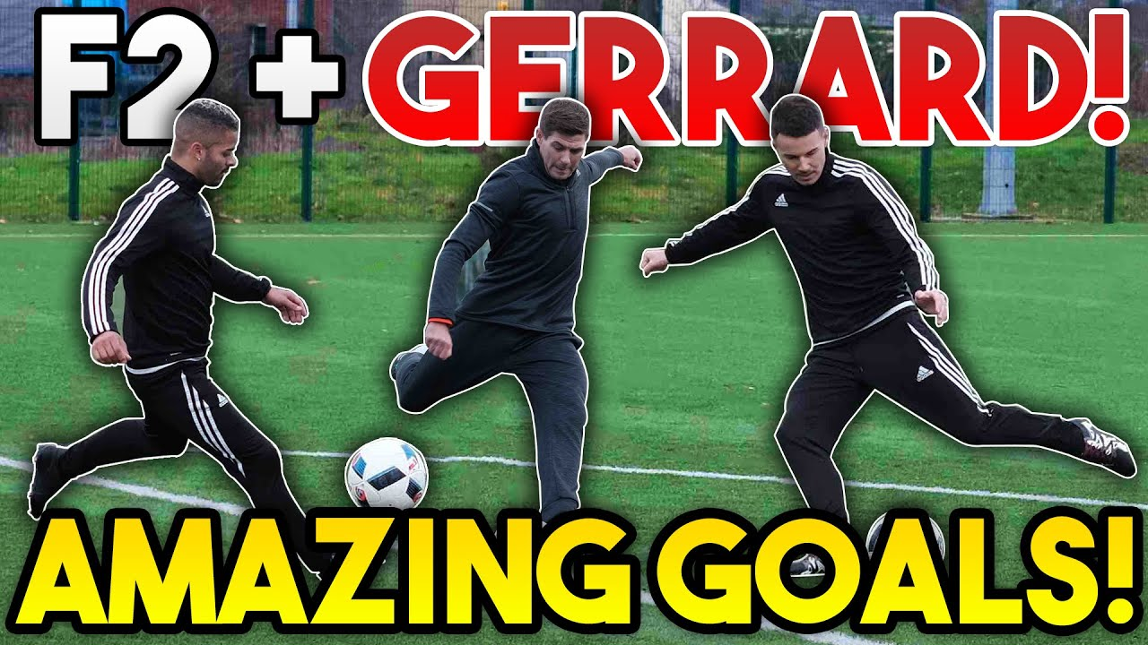 Steven GERRARD + F2Freestylers EPIC Shooting Session | AMAZING GOALS | Billy Wingrove & Jeremy Lynch