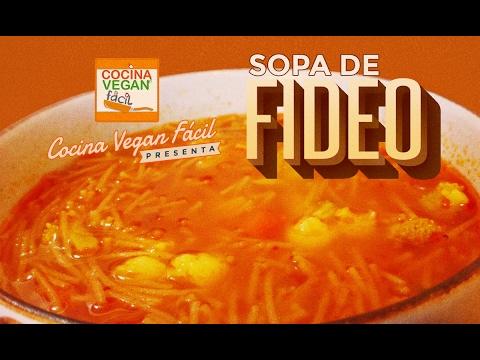 Sopa de fideo - Cocina Vegan Fácil