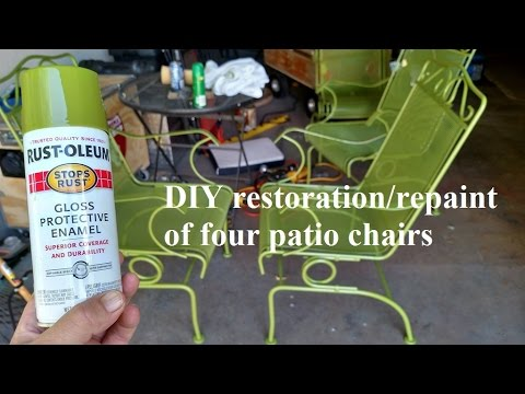 DIY restoration & repainting of weathered patio chairs