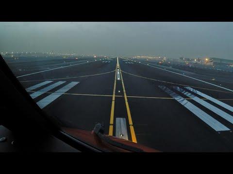 DUBAI Pilotsview BOEING 777 Takeoff Runway 30R
