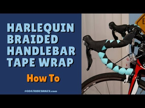 Harlequin Braided Bicycle Handlebar Tape Wrap [How To]