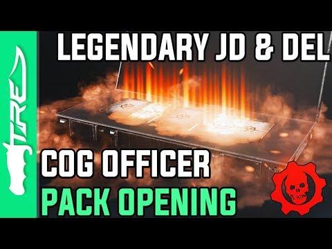 LEGENDARY LIEUTENANT JD & DEL! - Gears of War 4 Gear Packs Opening - 30 COG OFFICER PACKS!