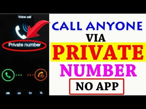 How to make a private call no apps |latest|