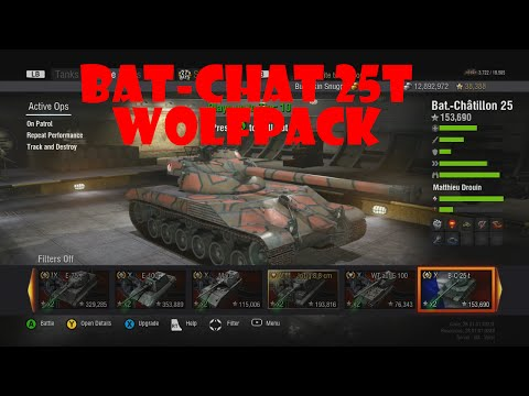 World Of Tanks Xbox 360 Bat-Chat 25t Wolfpack