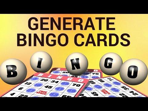 How to Generate Bingo Cards