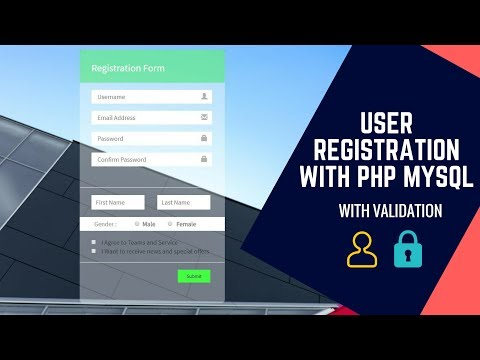 User Registration Form with PHP and MySQL with Validation
