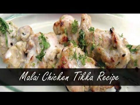 Chicken Malai Tikka Without Oven   Tandoor   Chicken Malai Tikka Recipe   with English subtitle