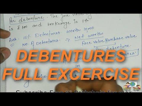 Debentures Full Excercise solved | Watch it | By Free KI Pathshala
