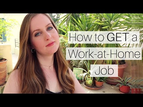 How to Get a Work-at-Home Job (the TRUTH)