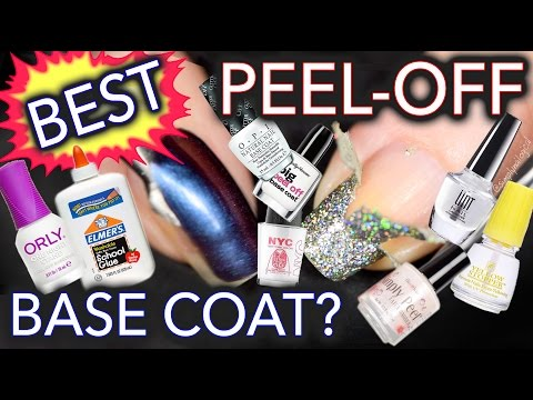Best Peel-Off Base Coat - 32 TESTS DONE!!!!