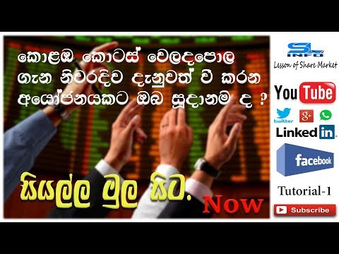 HOW TO INVEST IN SRI LANKA SHARE MARKET-(01) SL INFO