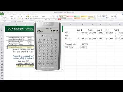 Value calculation using uneven cash flows