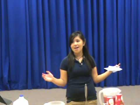 DEMONSTRATION SPEECHES! *Lori teaches us how to make Kool Aid!*