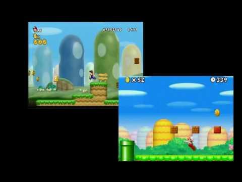 Wii vs. DS New Super Mario Bros. 1-1