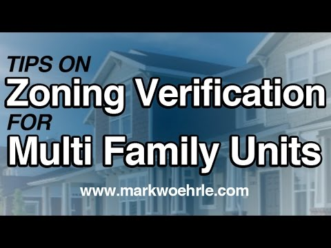 Multi Family Units - Duplex, Triplex, Fourplex, Apartment Buildings, Zoning Verification